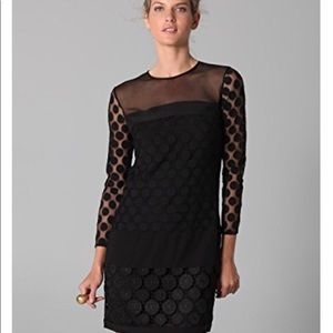Diane von Furstenberg Black Emmy Dress Sz 6